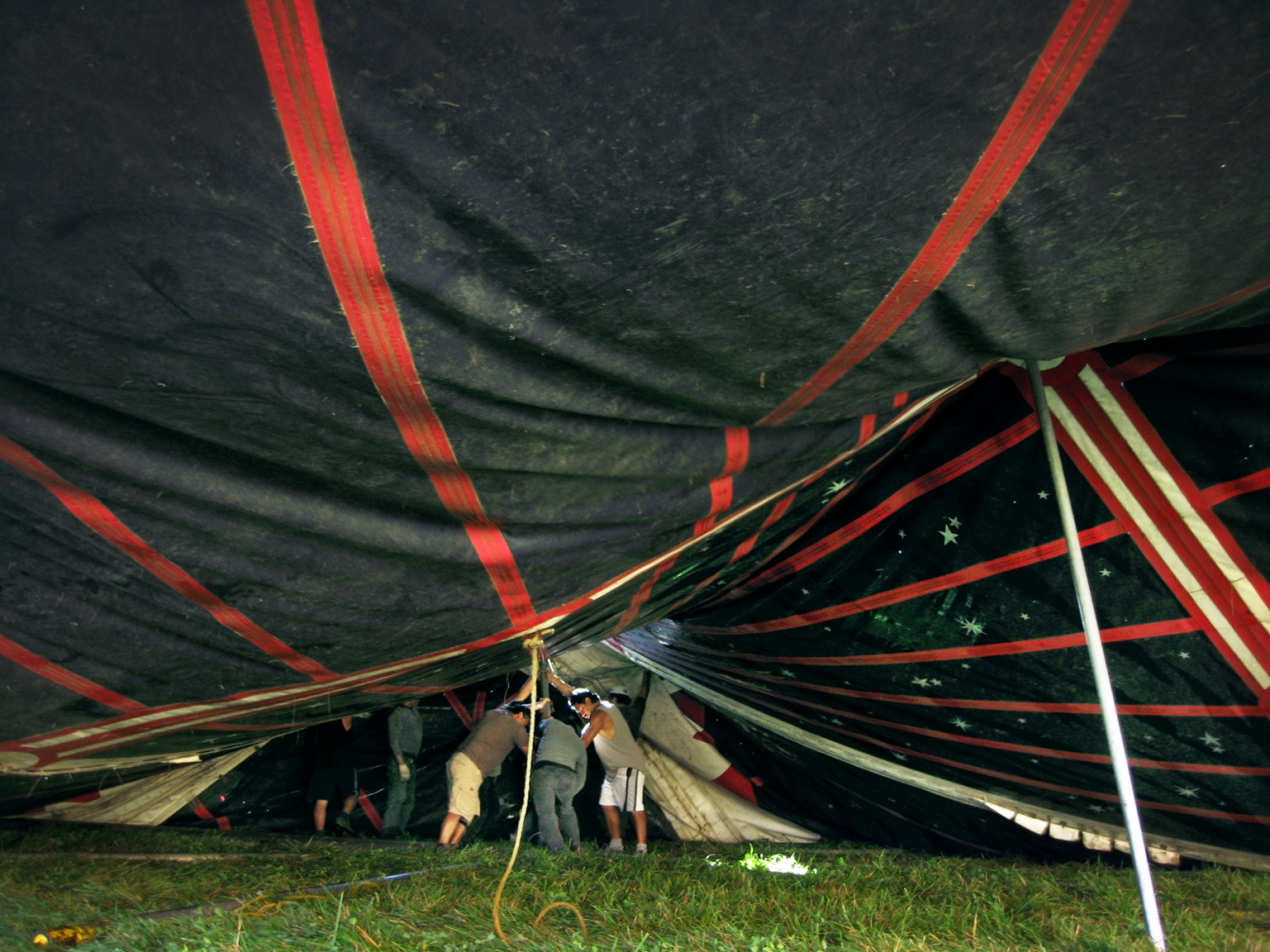 Art and Documentary Photography - Loading tent 10-10-08.jpg