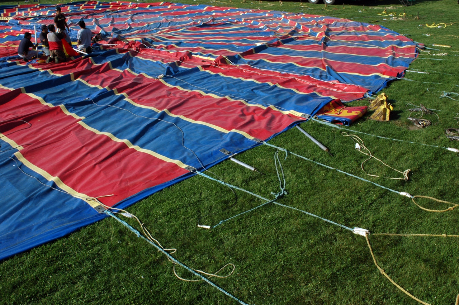 Art and Documentary Photography - Loading tent above#2 9-4-09.jpg