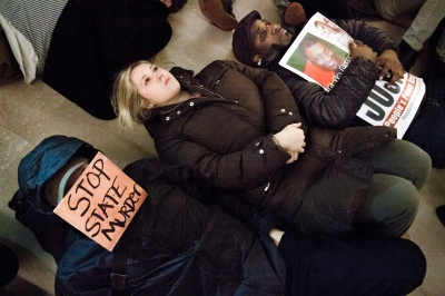On December 3rd, 2014, protesters took to the streets of New York City in response to a grand jury's decision not to indict the  NYPD  officer responsible for thedeath of Eric Garner.