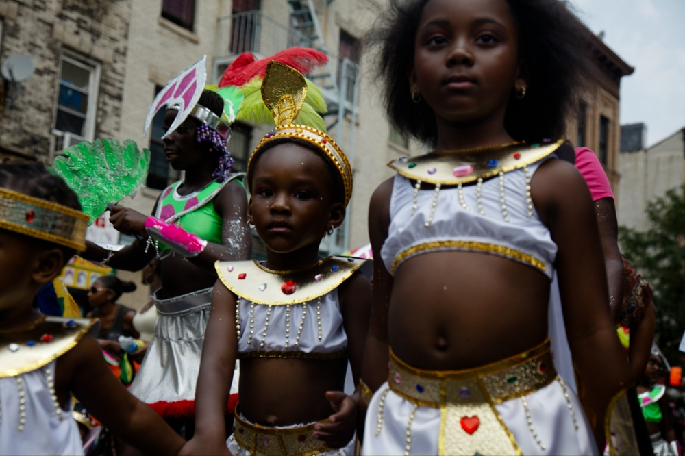 Photography image - Young marchers at the Children's West Indian Days Parade in Brooklyn, NY.