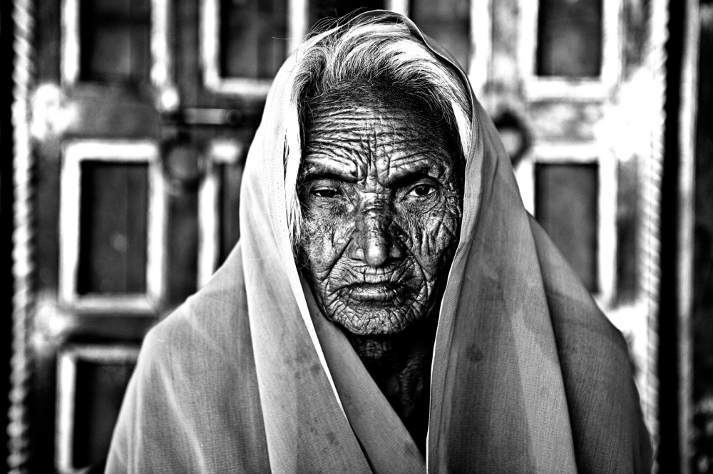 Rajasthan The tribal widow Meera Bai walked for many miles thru the desert to be part of the monthly widow meeting.