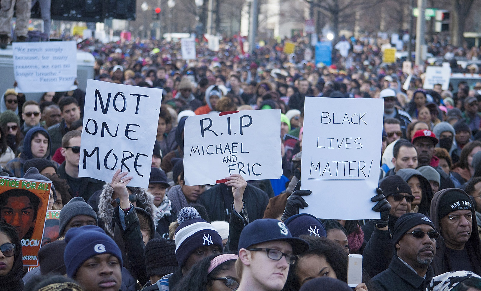 RALLY TO DEMAND JUSTICE FOR TREYVON MARTIN, MICHAEL BROWN, TOMIR RICE, ERIC GARNER, WASHINGTON, D.C., 2014
