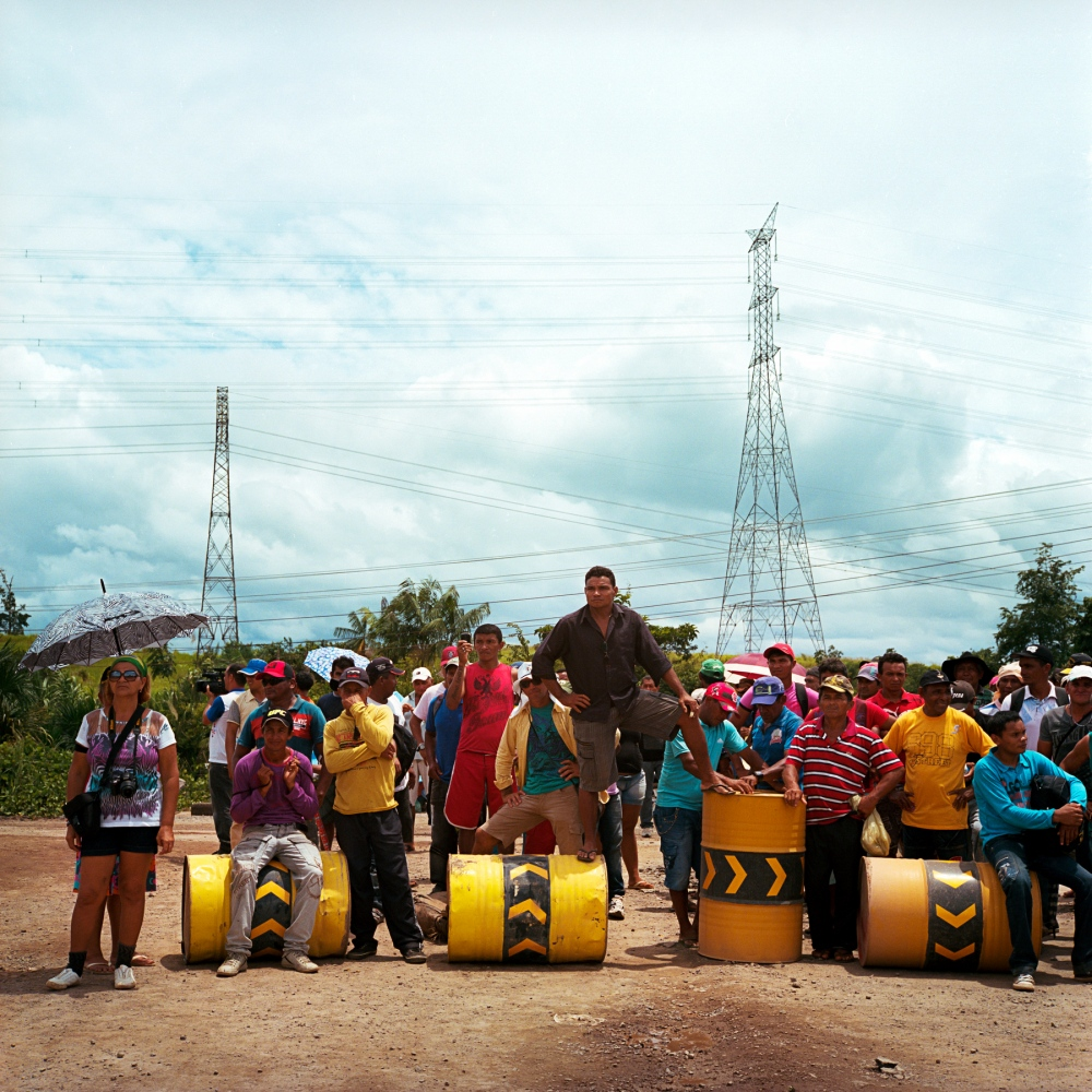 March 18, 2014. A protest by fisherman who have occupied the entrance to the Belo Monte construction site. The fisherman were there to demand compensation for the impacts to their waters, fish and livelihoods caused by the Dams construction.