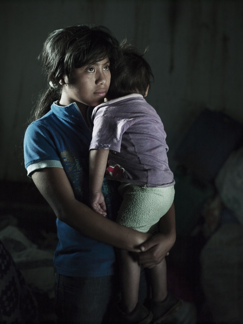 Lilian was only nine years old when her mother's 26 year old uncle, began to rape her in her home while her younger siblings were playing outside. Nobody really knows how often he raped her, but after two years, when Lilian was just eleven and had only had a single menstrual period, she fell pregnant. In this photo, Luis David is more than a year old, but Lilian still cannot talk about what happened to her. Only with the help of her mother can she tell her story. Together they reported the rape, but even though the man was found guilty he was only sentenced to a few months restraining order.