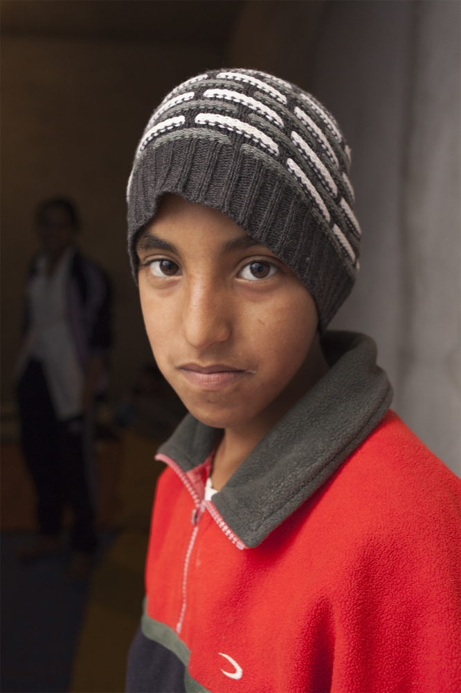 Boy (10), in his family house in the city of Boujdour, Western Sahara.