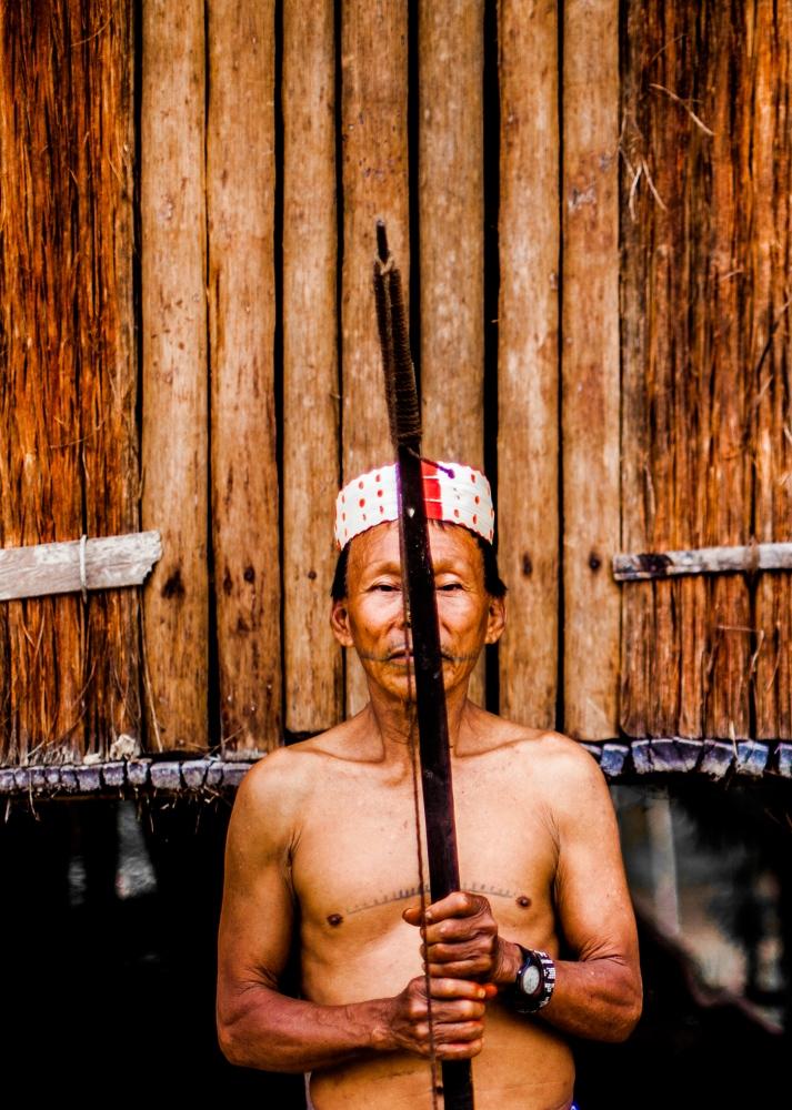 Cesar Ushoe, a local chief of a small Matsés community.