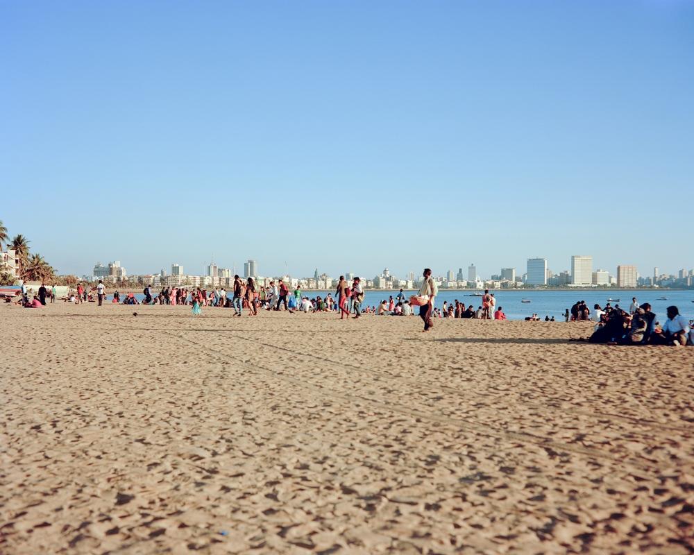 Late afternoon, Girgaum Chowpatty Beach. Mumbai.