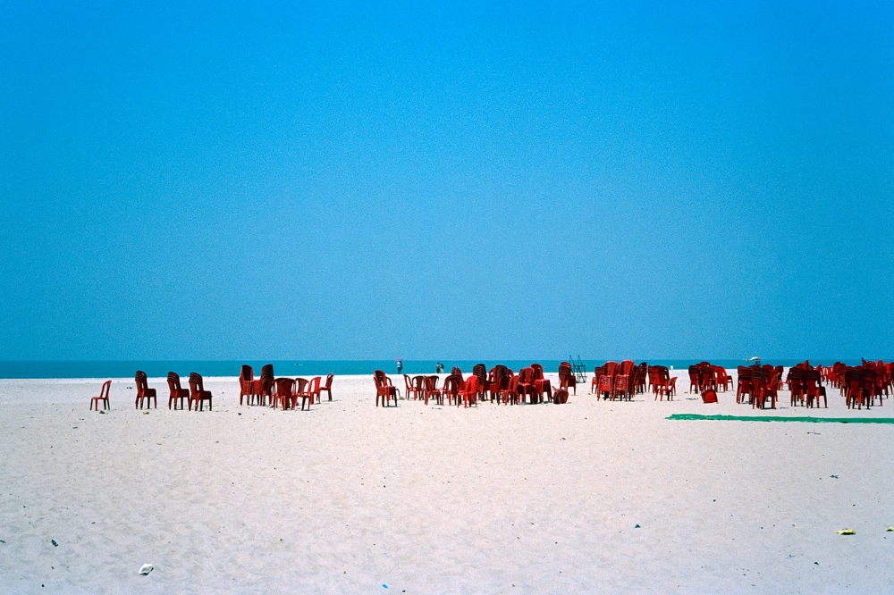 The day after a Communist Party of India (Marxist) rally. Alleppey Beach.