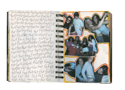 My Body, Dysmorphic / A page from my journal, 2004
