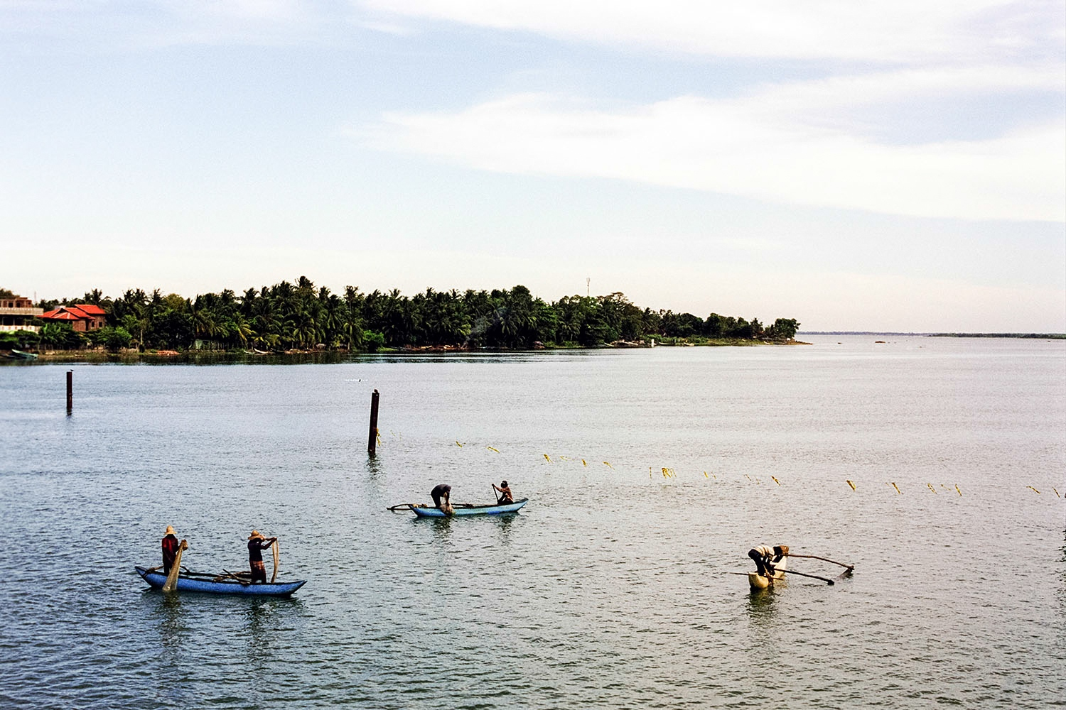 Fisherman in Batticaloa, in the Eastern Province. The villages around the lagoons and ocean were badly affected by the 2004 tsunami, thousands of people lost their lives.