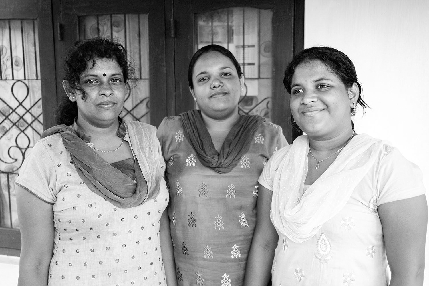 Three sisters that run a small women's centre in Puttalam, in the North West Province.