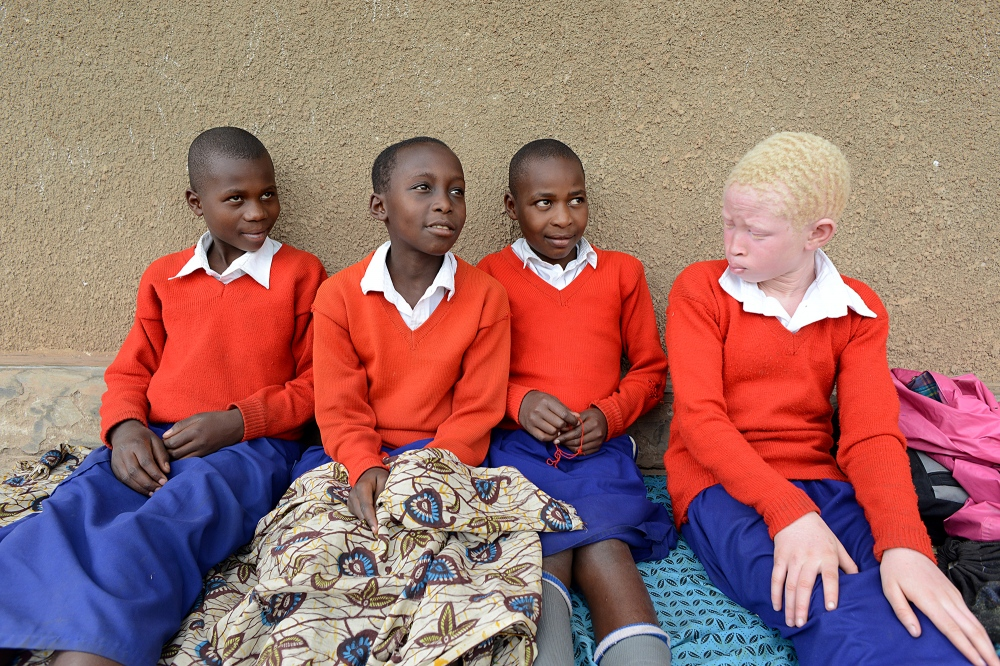 Natasha and her schoolmates. At the time of this picture, Natasha had been at the school for one month and seemed to be adjusting, making friends and performing well in school.