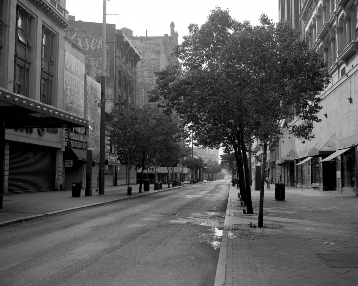 Fulton Street near Gallatin Place, looking East, May 2007