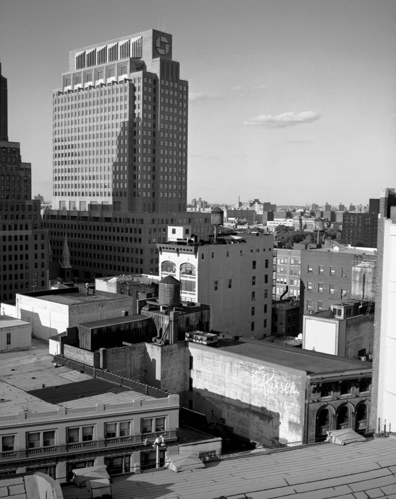Rooftop view Fulton Street and Bridge Streets, looking East Northeast, June 2007