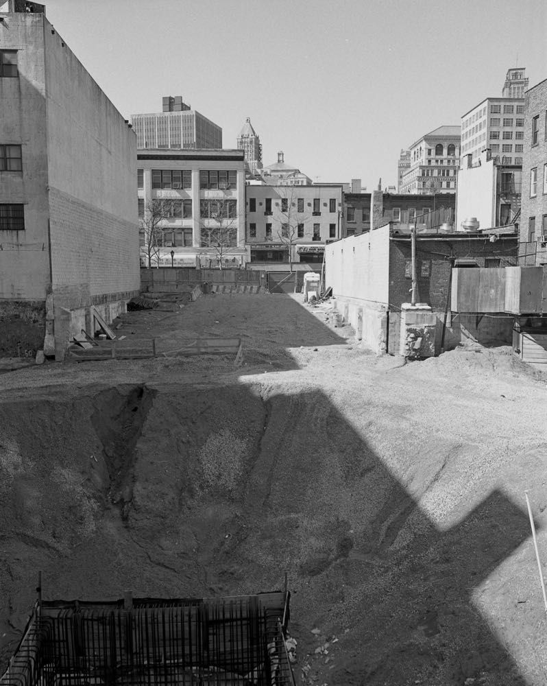 Stagnant construction site, 388 Bridge Street, March 2011