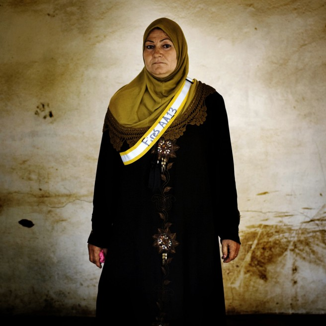 Badria Siwan Hussein, 41, has seven children. Her husband was kidnaped in October of 2007 and never seen again.