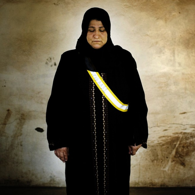 Shela Hassan Elwan, 34, has six children. Her husband was kidnapped on June 4, 2006, when driving a delivery truck to Baghdad. His body was never found. She was pregnant with their youngest son when he disappeared.