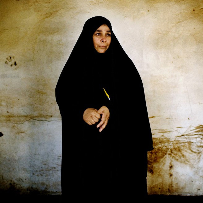 Iptisan Abbas Muhammed, 41, has four children. Her husband was killed in a suicide bombing December 18, 2007 while he was sitting in a coffee shop in Diyala province. Her 18 year old son was also handicapped by the bombing.