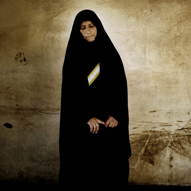 Wonsa Hamad Alwan, 41, has six children. Her husband was killed in an IED explosion on June 22, 2006.