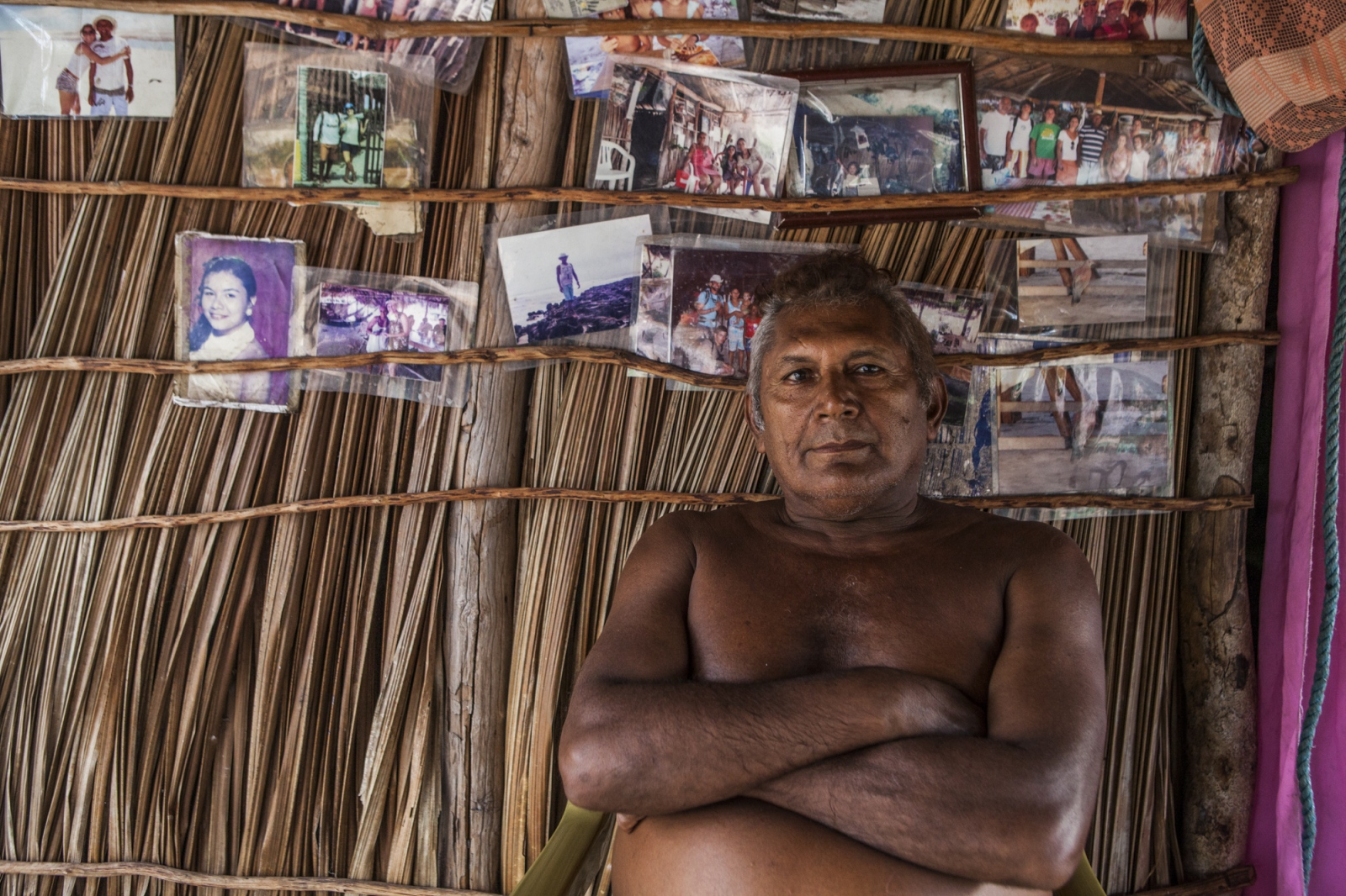 "Raimundo Brito, 61, the oldest member of the Queimada dos Britos community, says ""I will never leave the island even if they offer me a truck full of money"". He was born in the oasis, lived all his life there and buried his father in the local cemetery.  The Brazilian Institute of the Environment and Natural Resources (IBAMA) is planning to remove them since they live in a National Park. The residents refuse to move since many of them were born there and lived all their lives in the Queimada. They claim that more than a threat, they are a protection to the Lençois do Maranhão."