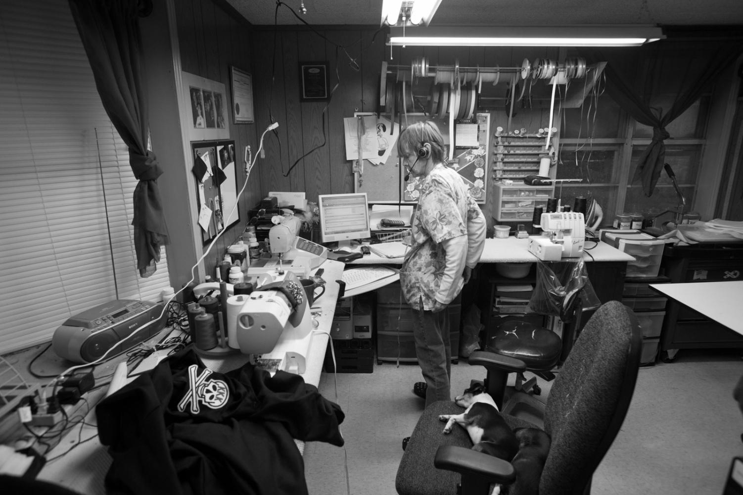 """Mississippi.""""Momma Ruth,"""" a seamstress who makes robes for the Ku Klux Klan in the process of taking an robe order for an Imperial Wizard (an officer within the KKK)."""