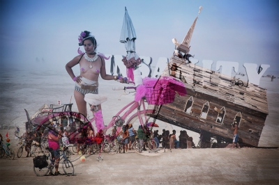 Burn Baby, Burn: Double Exposures from Burning Man