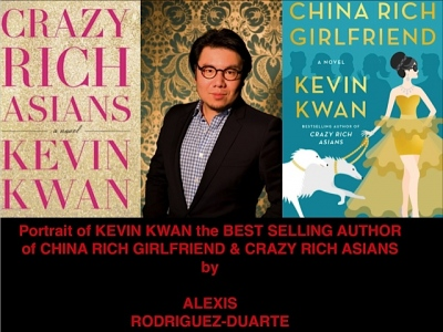 Portrait of KEVIN KWAN the BEST SELLING AUTHOR of CHINA RICH GIRLFRIEND & CRAZY RICH ASIANS by  ALEXIS  RODRIGUEZ-DUARTE