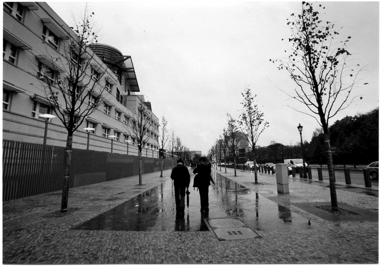 Miguel and the guide, Berlin, 2008.