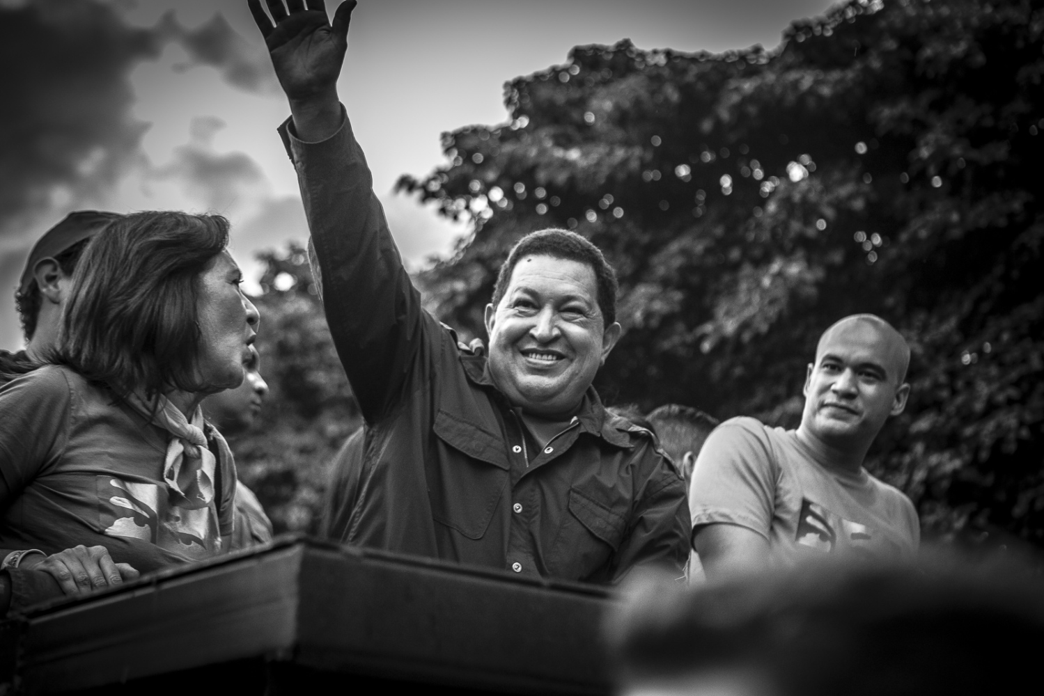 President Hugo Chávez during a campaign event for his re-election at Catia neighbourhood in Caracas, 17 th September 2012.  Chávez was running for a third term as President of Venezuela, while he was fighting cancer. He won the election with 55% of the votes.