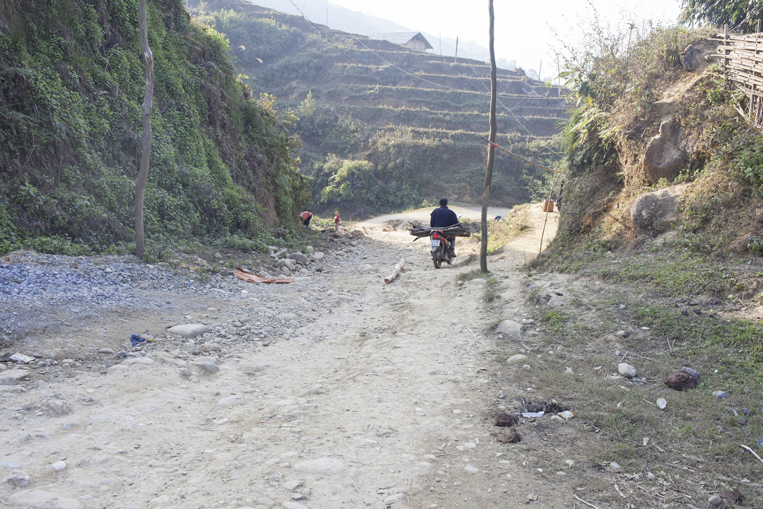 Everything gets transported by motorcycle or scooter in the valley.