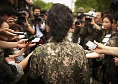 After the DMZ, she was interviewed about what her strategy for dealing with North Korea was.