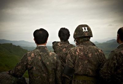 Looking towards North Korea, from the DMZ (De-Militarized Zone)