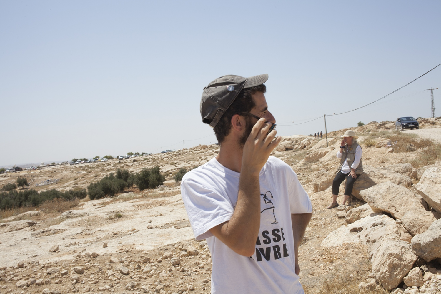 Activist from a demonstration, outside of Hebron.