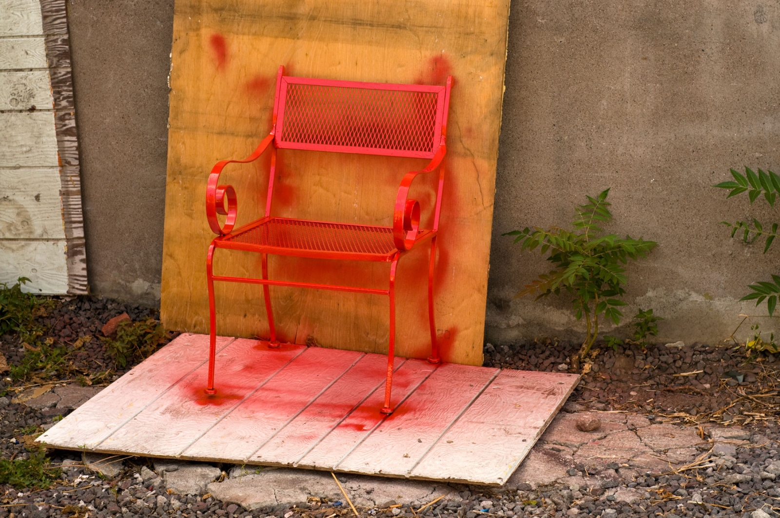 Art and Documentary Photography - Loading freshly-painted-red-chair.jpg