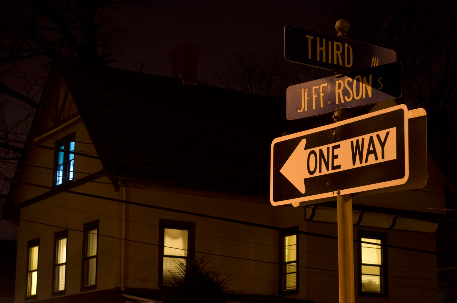 Art and Documentary Photography - Loading street-signs-at-night.jpg