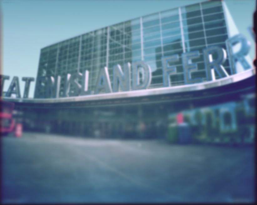Staten Island Ferry Pinhole photo 2010