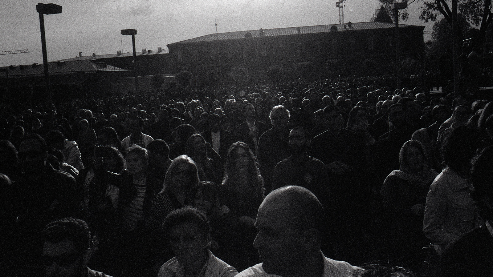 Crowd at Echmiadzin Armenian Genocide Memorial