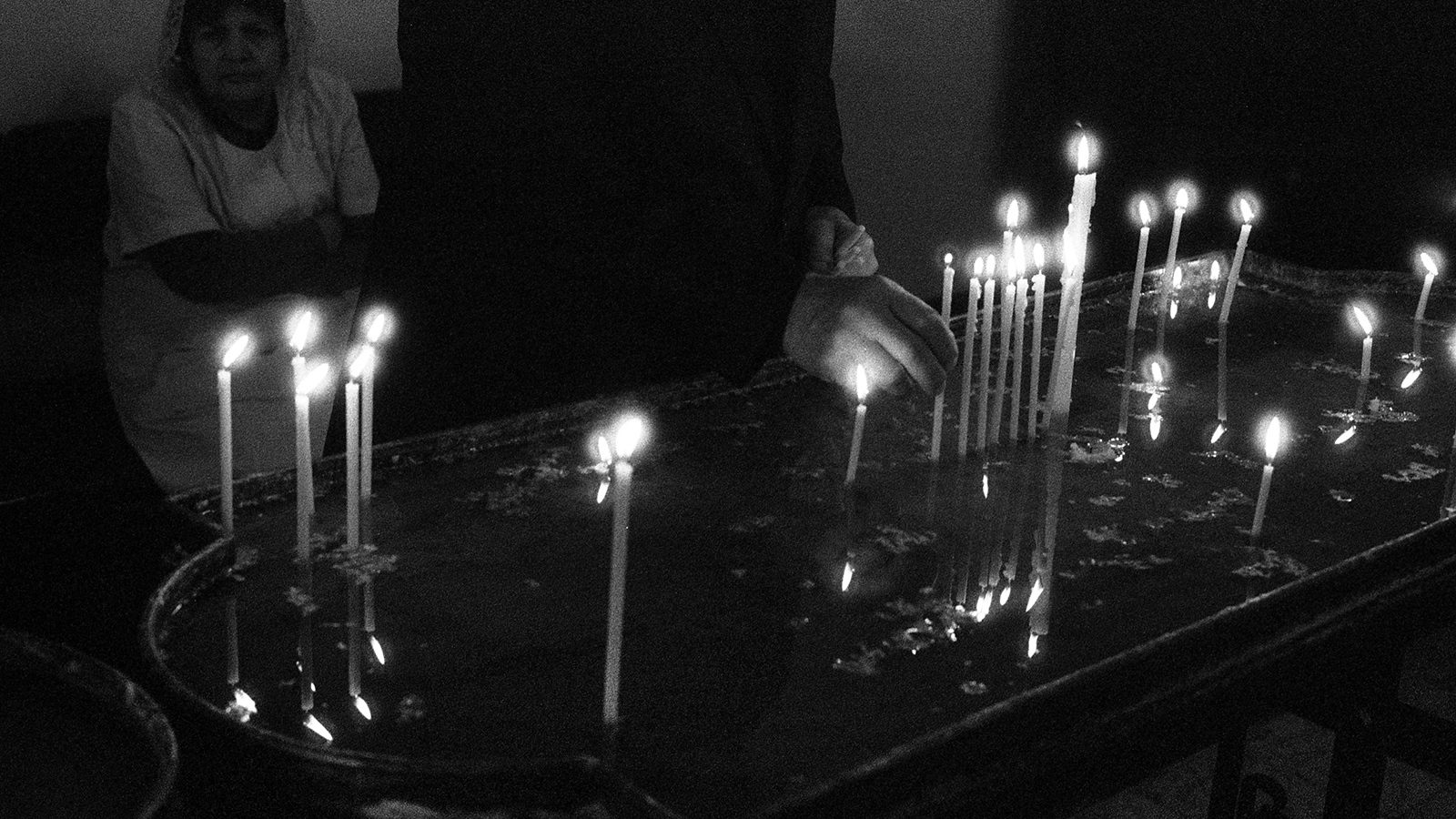 Memorial candles at Echmiadzin Cathedral