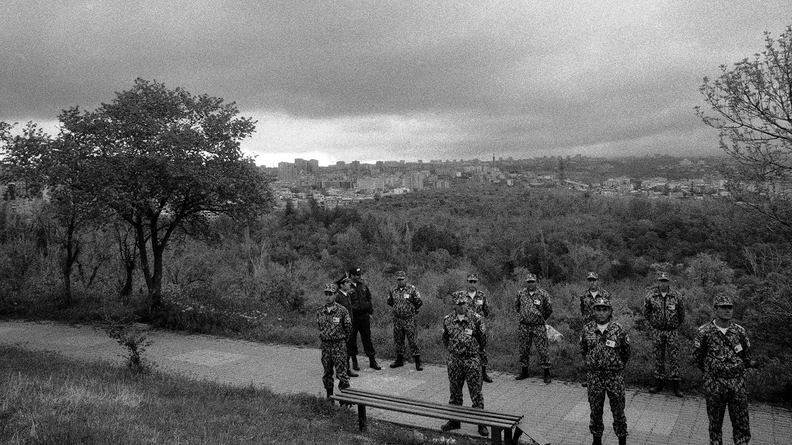 Security forces at Tsitsernakaberd Armenian Genocide Memorial