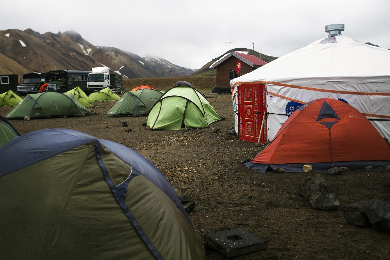 TheLandmannalaugar campsite.