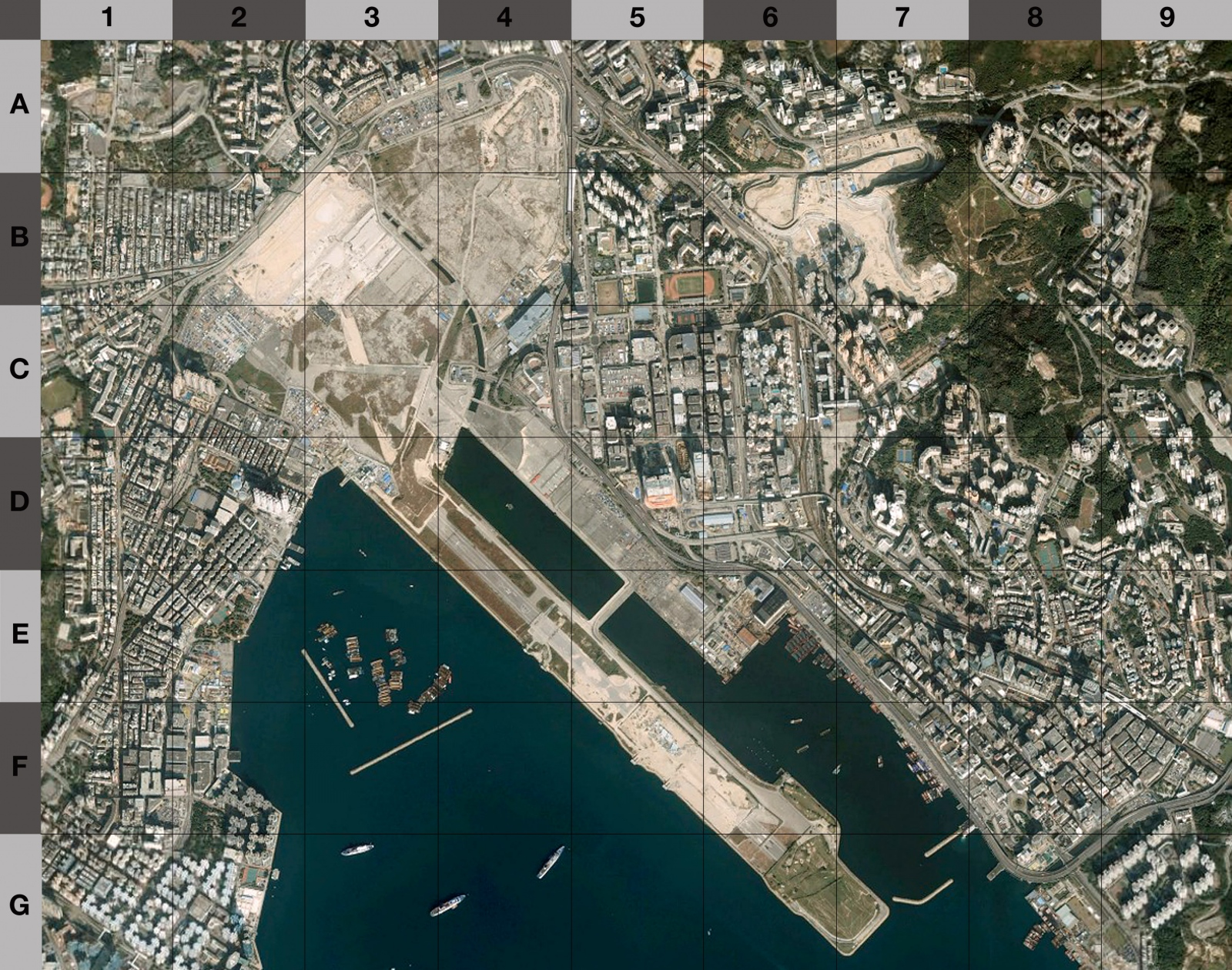 Map of the former Kai Tak International Airport (circa 2008)