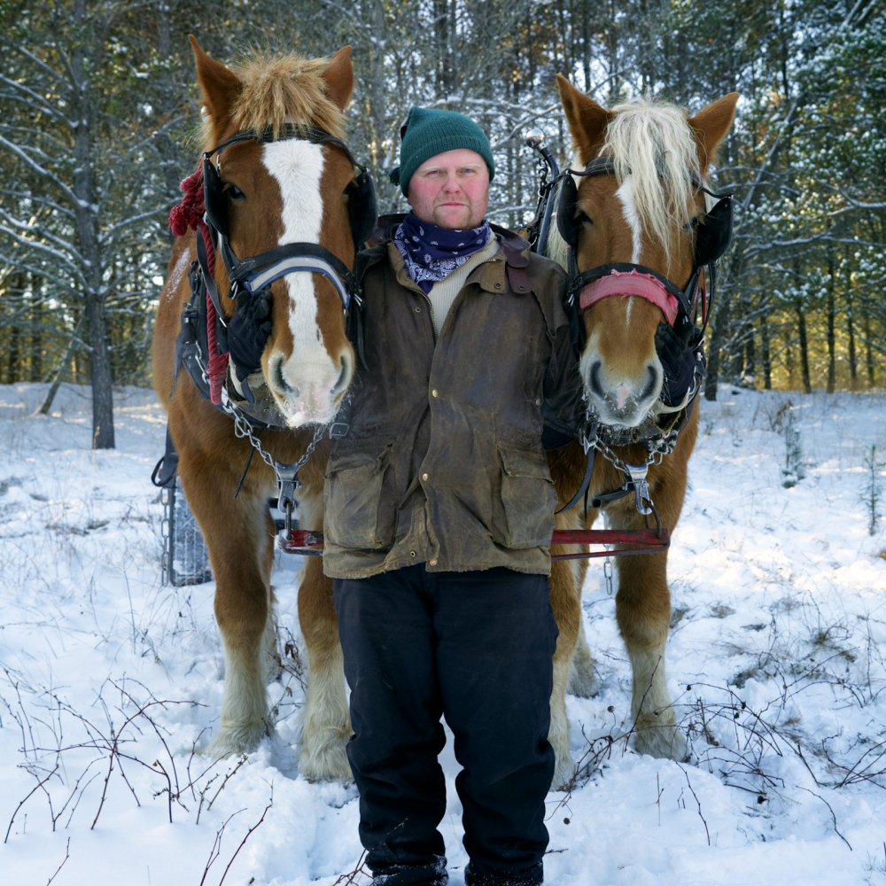 Horse Logger - Winter, Wisconsin