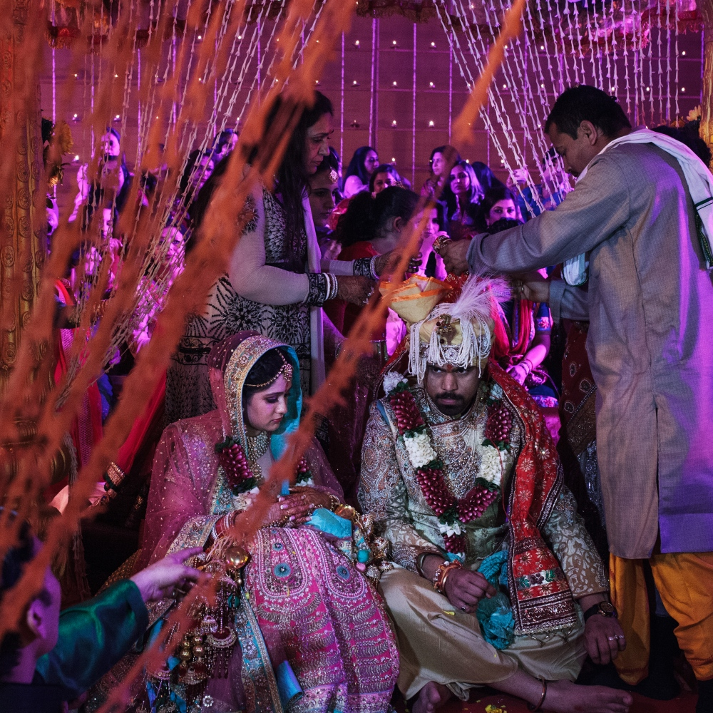 "8 Feb 2015 - Vrindavan, India - A bride and groom go through a Hindu wedding ritual in Vrindavan, India. In a town known as the ""city of widows"" the ritual of marriage appears to be an ironic occurence."