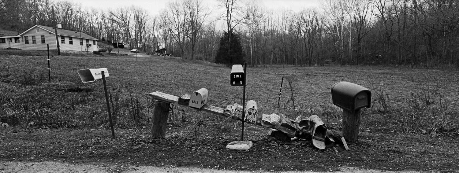 Mailboxes #2 Archival digital print 24 x 10 2010