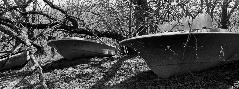 Boats Archival digital print 24 x 10 2005