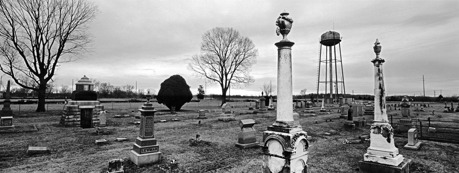 Cemetery Archival digital print 24 x 10 2013