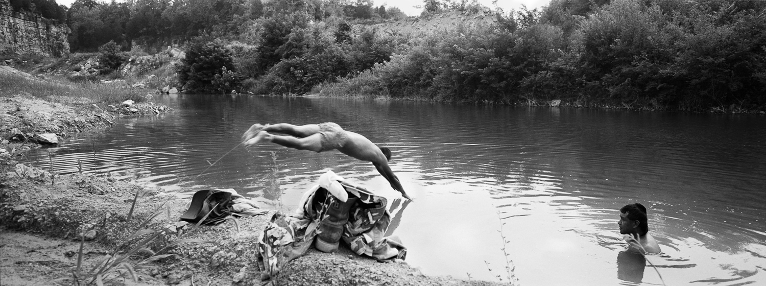 Quarry Swimmer Archival digital print 24 x 10 2007