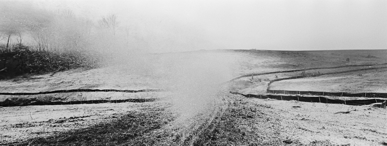 Erosion control Archival digital print 24 x 10 2013