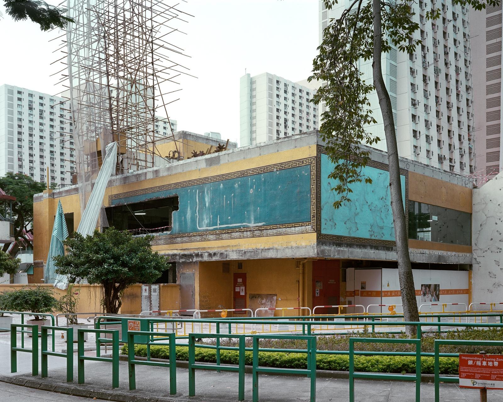 "Folded restaurant #2, Tai Hing Estate, 6/2012 Archival Pigment Inkjet Print 28.8"" x 36"" / 40"" x 50"""