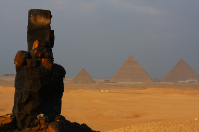 The Great Pyramids, Giza, Egypt.